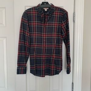 Women's brooks brother red fleece plaid top small